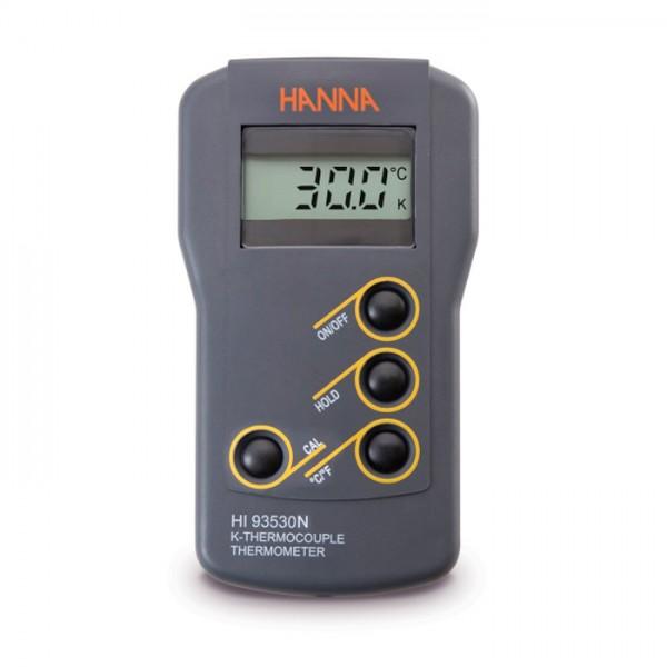 Termómetro Termopar de tipo K de Resolución de 0,1 ° HI93530N Hanna