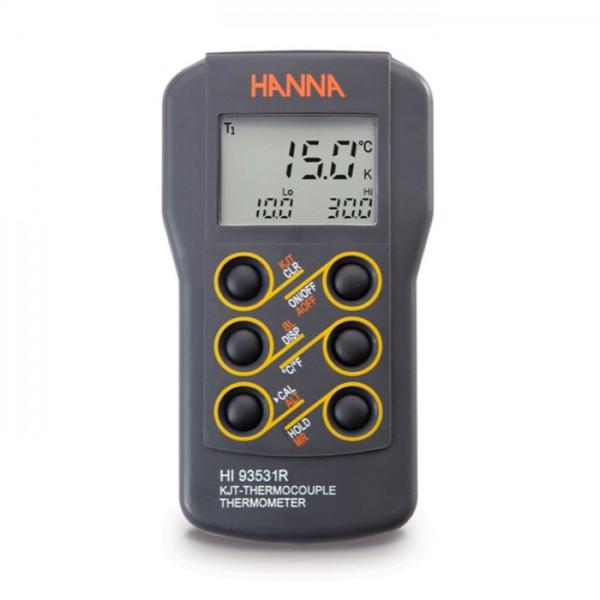 Termómetro Termopar de tipo K de 0,1 ° de resolución con salida RS93531R Hanna