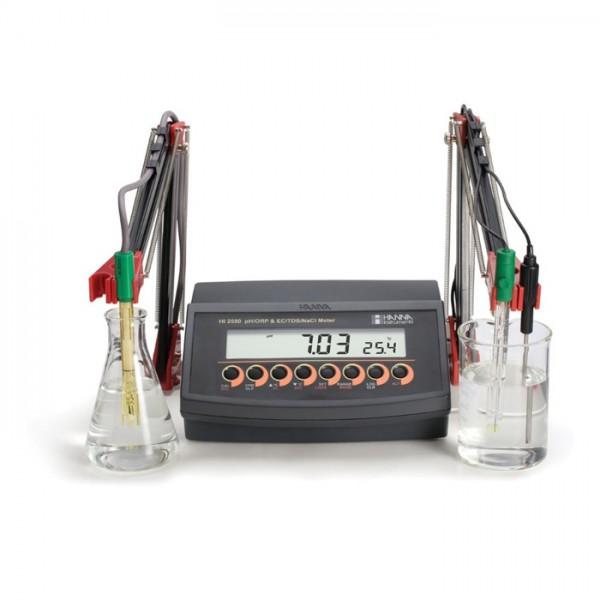 Multiparamétro de pH / ORP y EC / TDS / Salinidad HI2550-01 Hanna