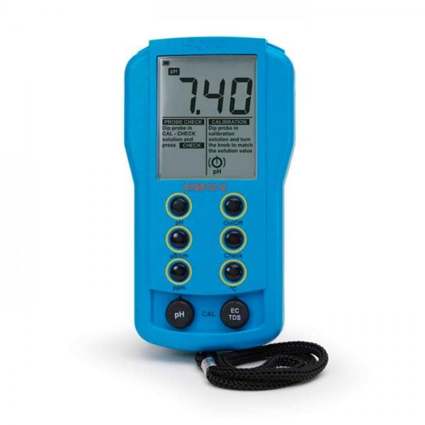 Medidor Portátil de pH / EC / TDS HI9810-6 Hanna