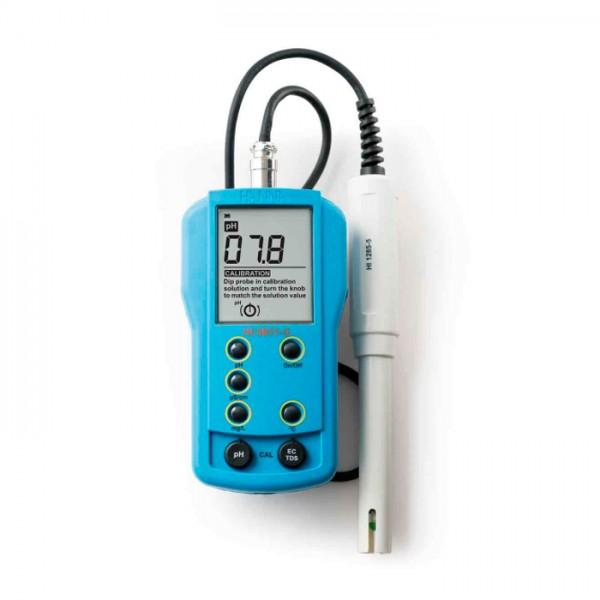Medidor Portátil de pH / EC / TDS / Temperatura HI9811-5 Hanna