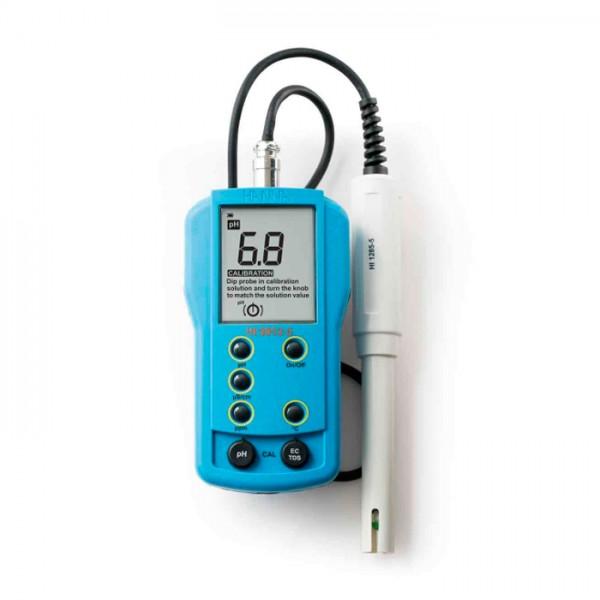 Medidor Portátil de pH / EC / TDS / Temperatura HI9812-5 Hanna