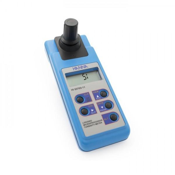 Medidor Portátil de Turbidez compatible con ISO con registro de datos y conectividad de PC HI93703-11 Hanna
