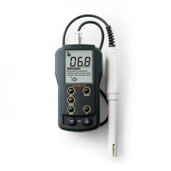 Medidor Portátil de pH / EC / TDS HI9813-5 Hanna