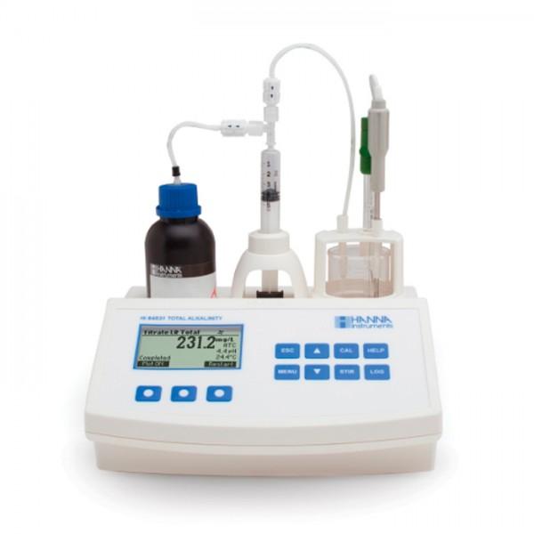 Mini Titulador para medir la Alcalinidad Titulable en Agua y aguas Residuales HI84531U-01 Hanna