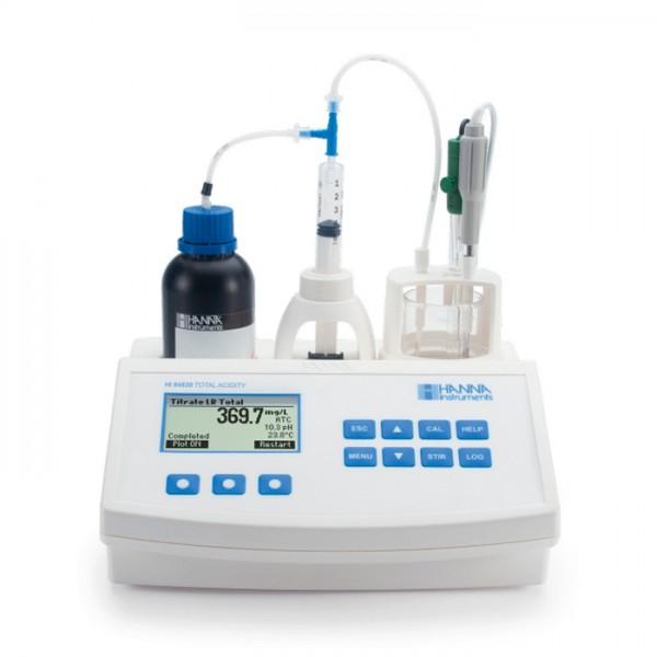 Mini Titulador para medir la Acidez Titulable en Agua HI84530U-01 Hanna