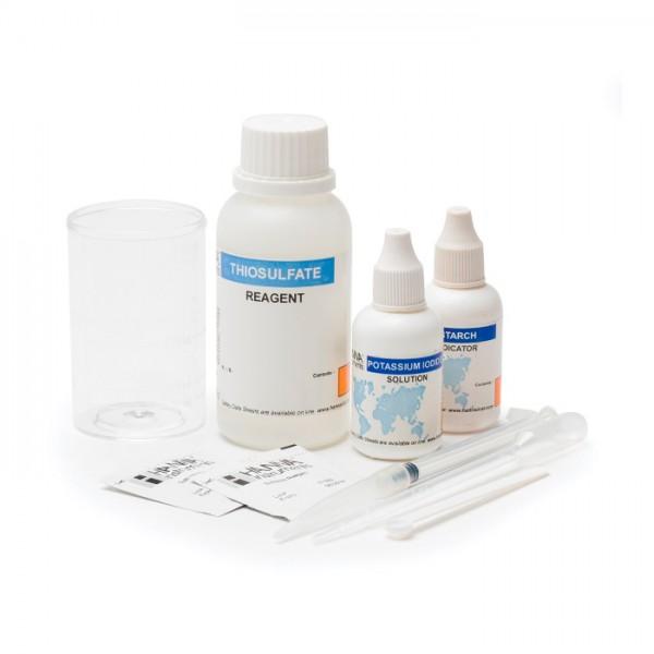 Kit de prueba de Rango extendido de cloro total HI38023 Hanna