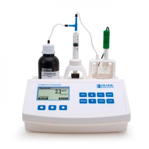Mini Titulador de dióxido de Azufre para vino HI84500-01 Hanna