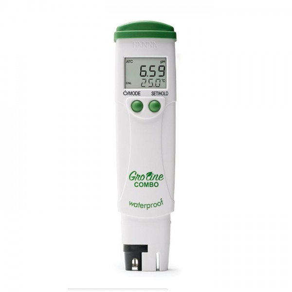 Probador de pH / EC / TDS / temperatura de Bolsillo Hidropónico GroLine HI98131 Hanna