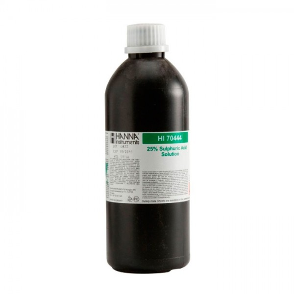 Reactivo de Ácido Sulfúrico 25%, 500 ml HI70444 Hanna