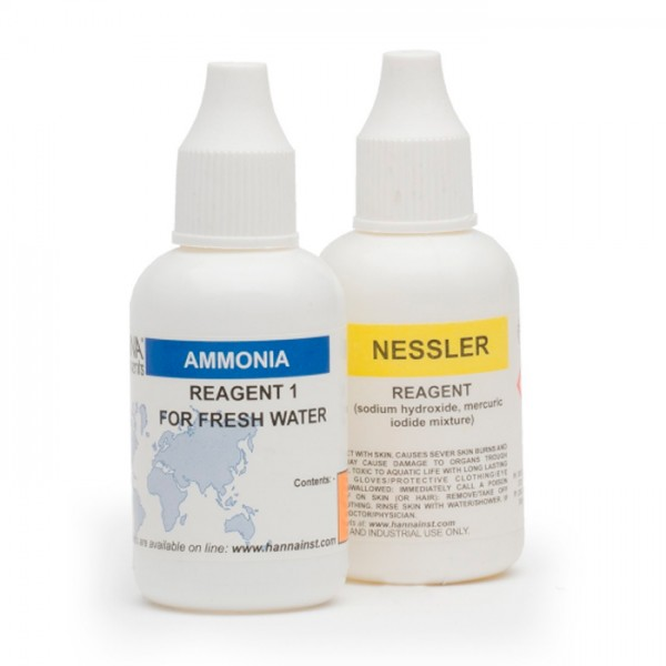 Kit de prueba de Amoniaco para Reactivos de Reemplazo de agua dulce HI38049-100 (100 pruebas) Hanna