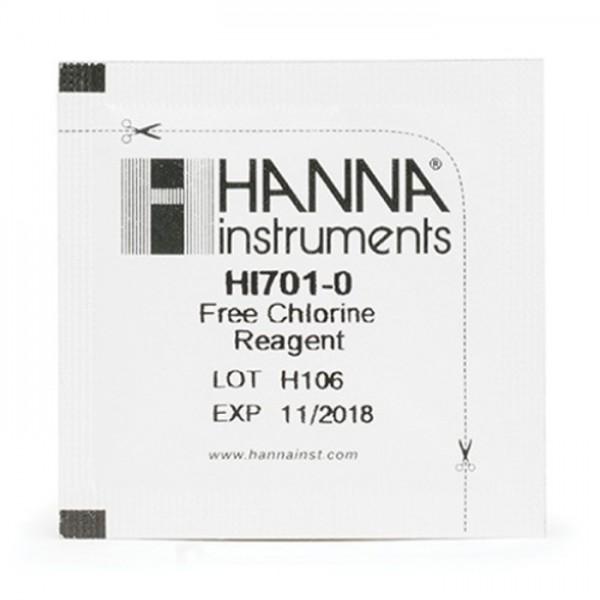 Reactivos Chlorine Checker® HI701-25 (25 pruebas) Hanna