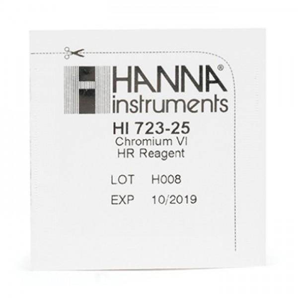 Reactivos de alto rango Cromo HC Checker VI HI723-25 (25 pruebas) Hanna