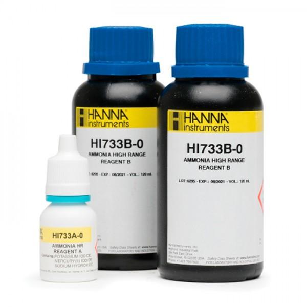 Reactivos de alto rango de Amoniaco Checker HC HI733-25 (25 pruebas) Hanna