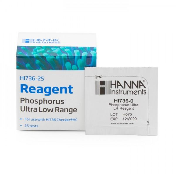 Reactivos Phosphorus Ultra Low Range Checker® HC HI736-25 (25 Pruebas) Hanna