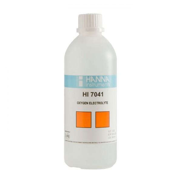 Solución de Electrolito de Oxígeno Disuelto HI7041L (500 ml) Hanna
