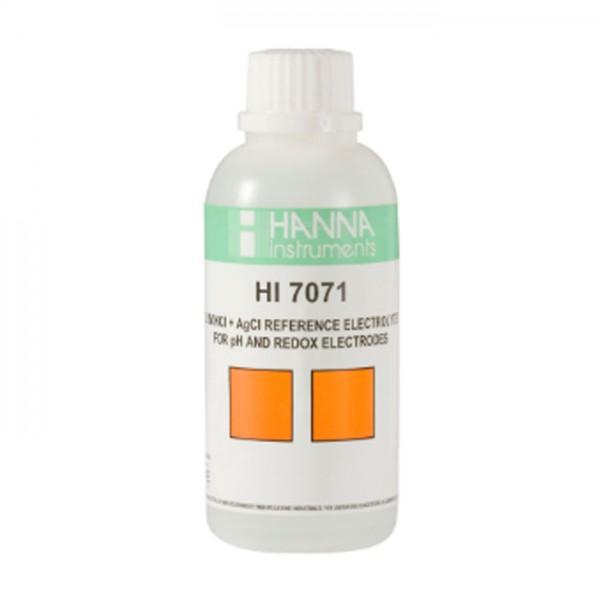 Solución de Relleno Electrolítico HI7071M, 3.5M KCl + AgCl (230 mL) Hanna