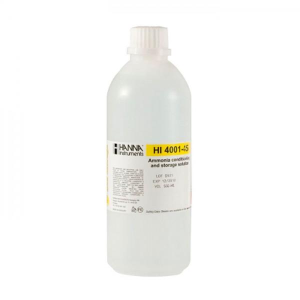 Solución de Acondicionamiento y Almacenamiento ISE de Amoníaco HI4001-45 Hanna