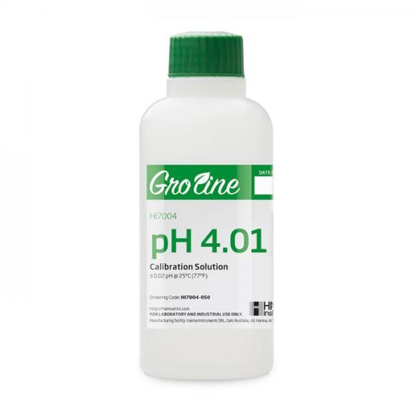 Buffer de Calibración GroLine pH 4.01 (500 ml) HI7004-050 Hanna