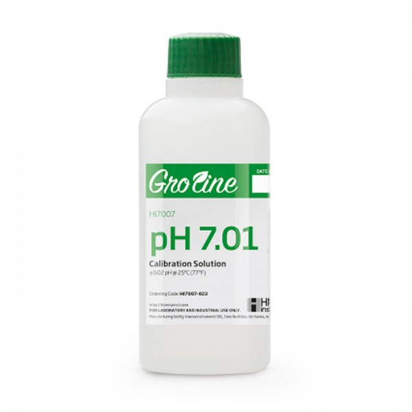 Buffer de Calibración GroLine pH 7.01 (120 ml) HI7007-012 Hanna