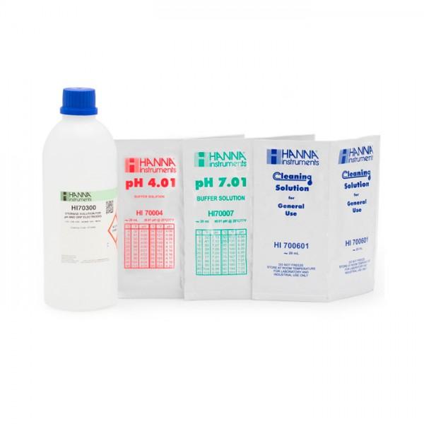 Paquete de Calibración de pH general, pH 4 y 7 (bolsitas) HI547-11PS Hanna