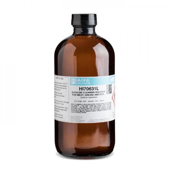 Solución de Limpieza alcalina de grasas y grasas HI70631L (500 ml) Hanna