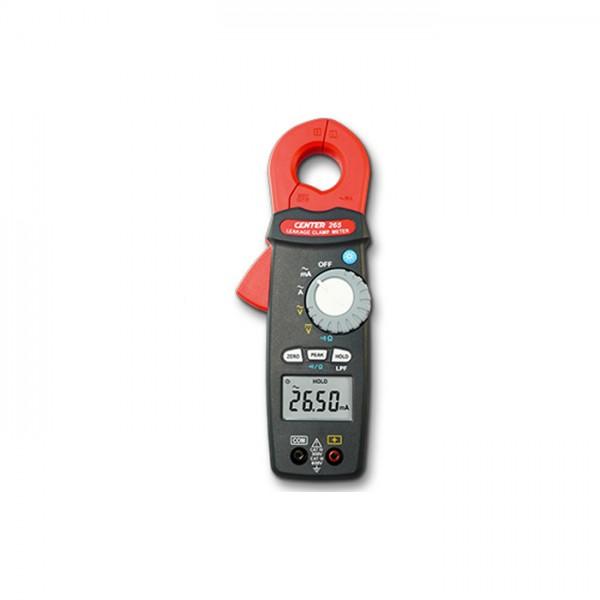 Pinza Amperimétrica de Fugas (AC, TRMS) CENTER 265