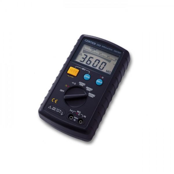 Probador de Aislamiento (250/ 500/ 1000V, 4G ohm) CENTER 360