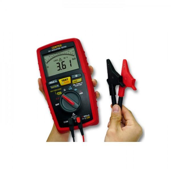 Probador de Aislamiento (50/ 100/ 250V, 100G ohm) CENTER 361