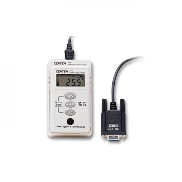 Registrador de Temperatura Thermo Recorder CENTER 340 (A prueba de Agua)