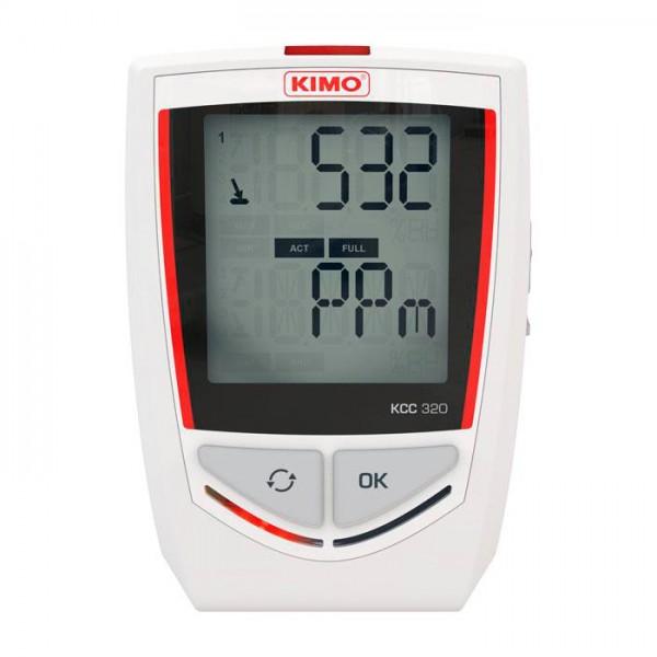 Grabador Autónomo de Temperatura / Higrometría / Presión atmosférica / C02 KCC 320 Kimo