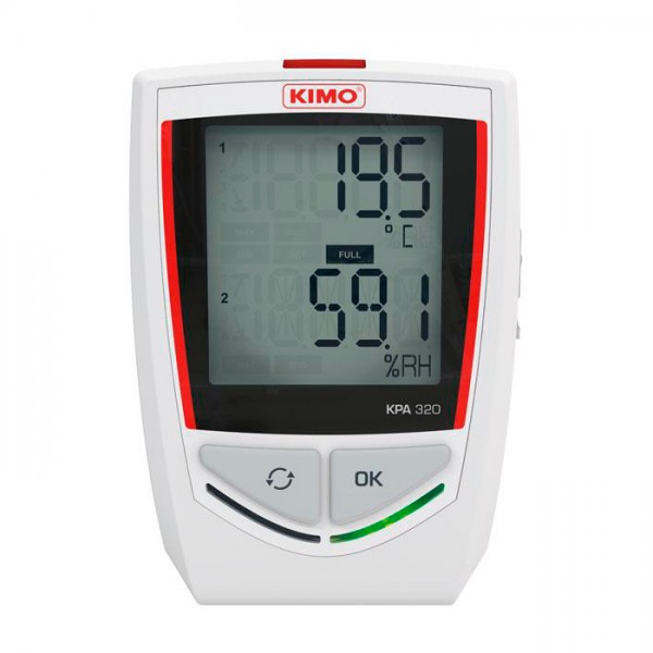 Grabador Autónomo de Temperatura / Higroemtría / Presión atmosférica KPA 320 Kimo