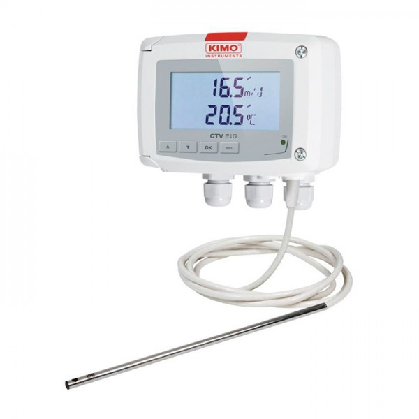Sensor de Velocidad y Temperatura CTYV 210-R Kimo