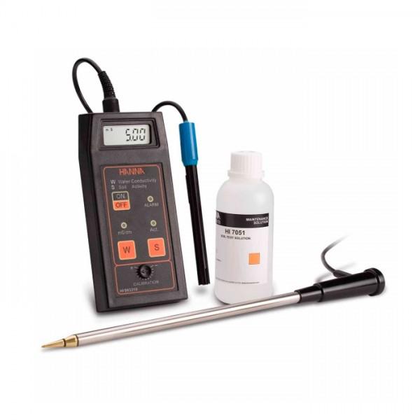 Kit de medición directa de la conductividad de la actividad y la solución del suelo HI993310 Hanna