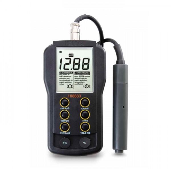 Medidor EC de Rango Múltiple con compensación de temperatura manual HI8633 Hanna
