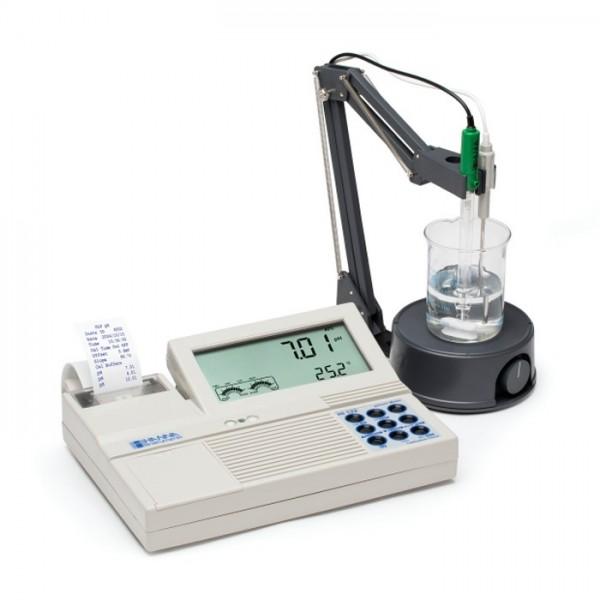 Medidor de pH / mV de Benchtop profesional con impresora incorporada HI122 Hanna
