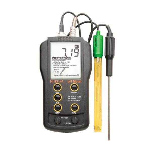 Medidor Analógico de pH / mV / ° C con HI1230B Electrodo HI83141 Hanna