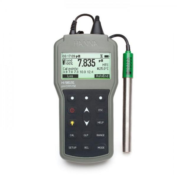 Medidor de pH / ORP / ISE portátil impermeable profesional HI98191 Hanna