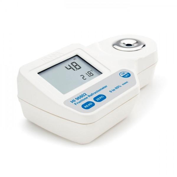 Refractómetro Digital para Análisis de% de Fructosa por peso HI96802 Hanna