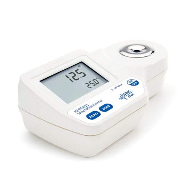 Refractómetro Digital para Análisis de Azúcar (% Brix) en moho y jugo HI96811 Hanna