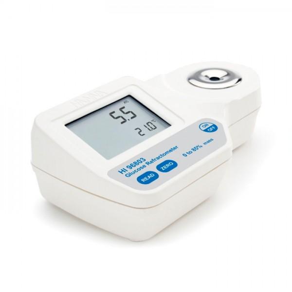 Refractómetro Digital para Análisis de% de Glucosa por peso HI96803 Hanna