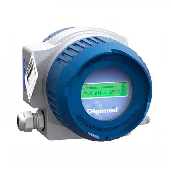 Analizador de pH ORP HT-49 24 Vcc Serie T Digimed