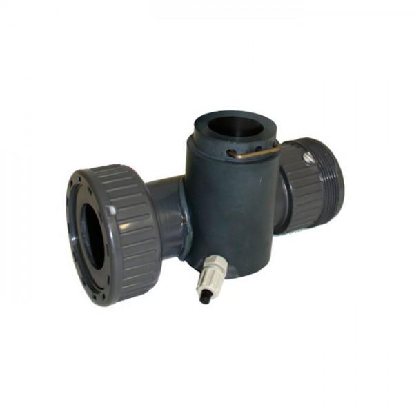 Celda de flujo para sensores s::can (funcionamiento en by-pass), PVC S::Can
