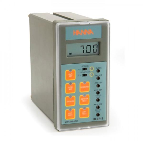Controlador analógico de pH con doble salida y prueba de autodiagnóstico HI8711 Hanna