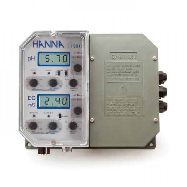 Controlador de conductividad / pH dual montado en la pared HI9913-1 Hanna