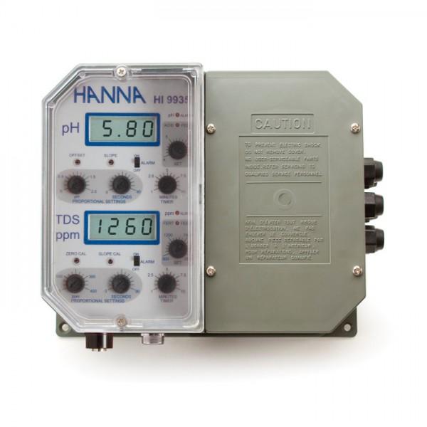 Controlador de grado industrial pH y TDS con dosificación proporcional de fertilizante HI9935-1 Hanna