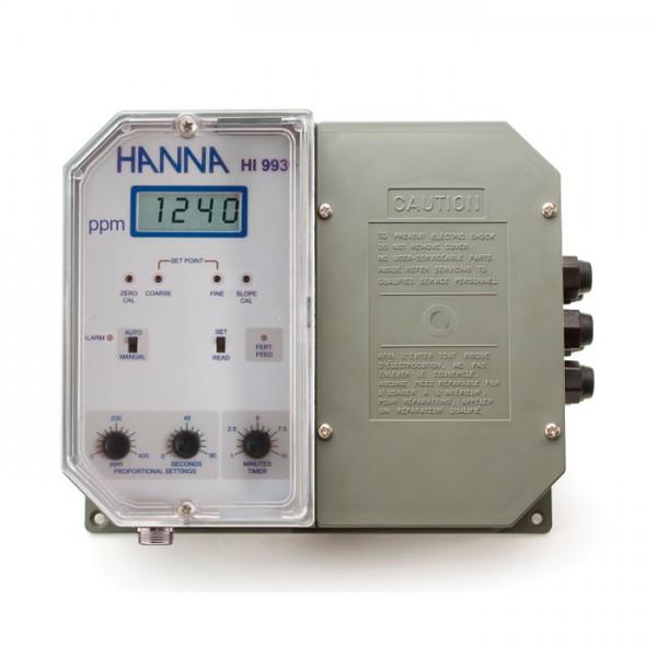 Controlador de grado industrial TDS con dosificación proporcional de fertilizante HI9934-1 Hanna
