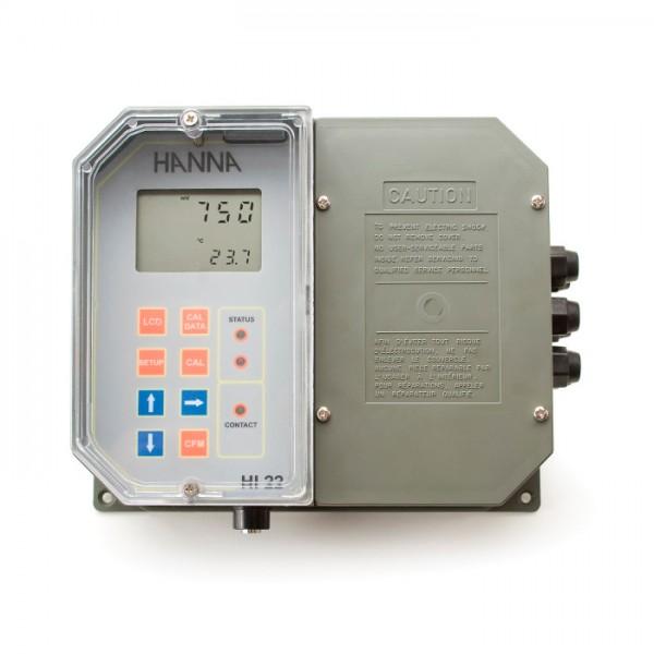 Controlador digital ORP montado en la pared con punto de referencia único y pasador correspondiente HI22111-1 Hanna