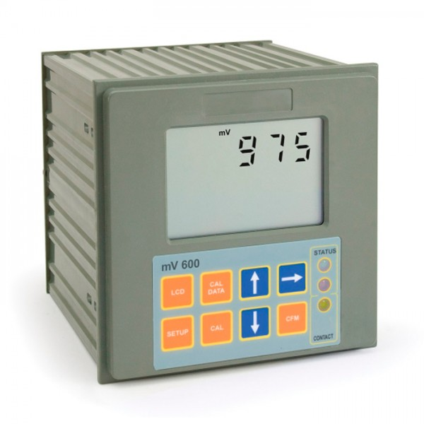Controlador digital ORP montado en panel con pin correspondiente mV600 Hanna