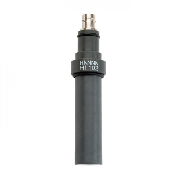 Electrodo de pH en línea con cuerpo de PVC y conector BNC HI102 Hanna